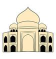 taj mahal india icon cartoon vector image