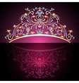 crown tiara womens gold vector image vector image