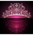 crown tiara womens gold vector image