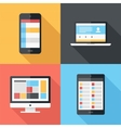 Flat icons vector image