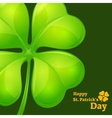 Clover on green vector image vector image