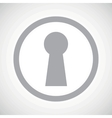 Grey keyhole sign icon vector image vector image