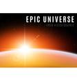 Universe sunrise vector image