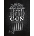 Poster popcorn chalk vector image