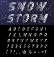 Snow font vector image vector image