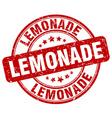 lemonade red grunge round vintage rubber stamp vector image