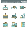 Icons line set premium quality of heavy industry vector image
