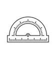 protractor school icon vector image