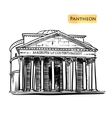 Rome building hand drawn vector image