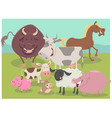 farm animal characters group vector image vector image