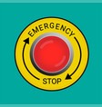 emergency stop button vector image