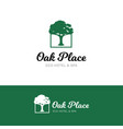 oak logo for hotel and spa salon vector image