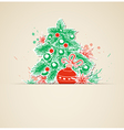 Christmas background with paper fir vector image