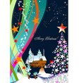 christmas - new year background vector image vector image