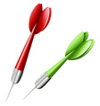 Green and red darts vector image