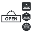 Open icon set monochrome vector image
