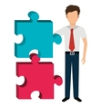 Business solutions and teamwork vector image