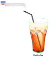 Thai Ice Milk Tea A Famous Beverage in Thailand vector image vector image