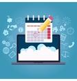 business planning calendar vector image