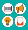 digital marketing concept multimedia network vector image