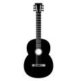 guitar black vector image