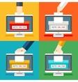 Online voting hands vector image