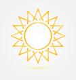 Orange minimal sun icon vector image