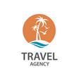 palm beach icon vector image
