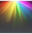 Rainbow glare spectrum with gay pride colors vector image