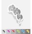 realistic design element orchid vector image