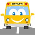 School Bus Cartoon Character vector image vector image