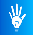 Light Bulb hands vector image vector image
