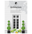 elements of architecture window background 20 vector image