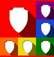 shield sign   set of icons vector image