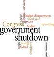 government shutdown vector image