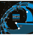 Abstract 3d mesh background abstract conceptual vector image vector image