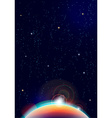 abstract cosmic view background vector image