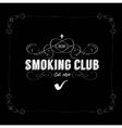 smoking club vector image
