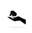 fist in hand vector image