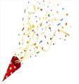 Party cracker with confetti and streamer vector image