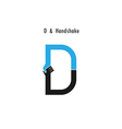 Creative D- letter icon vector image