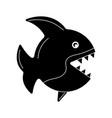 black fish icon vector image