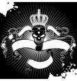 Crown skull sign vector image