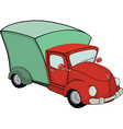 Delivery truck cartoon vector image