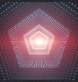 infinite pentagonal tunnel of vector image