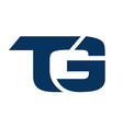 letter tg logo icon design vector image