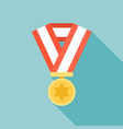 medal icon flat design vector image