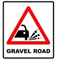 Set of variants a Blowout of gravel - road sign vector image
