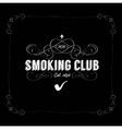 smoking club vector image
