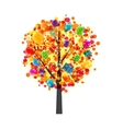 Color Glossy Balloons Tree Background Happy vector image vector image